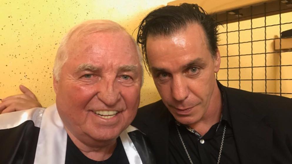 Giganten unter sich: Box-Legende Ulli Wegner (l.) und Rammstein-Frontmann Till Lindemann