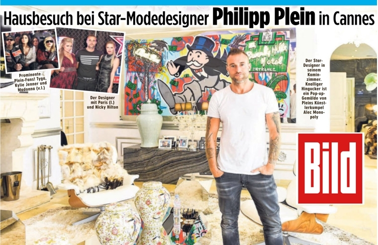 BILD bei Star-Designer Philipp Plein in Cannes
