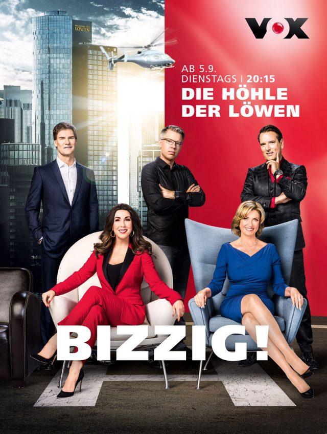 """VOX lässt wieder die """"Löwen"""" aus dem Käfig! Die vierte Staffel """"Die Höhle der Löwen"""" startet am 5. September 2017"""