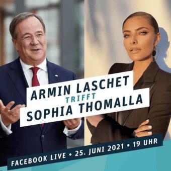 Armin Laschet trifft Sophia Thomalla